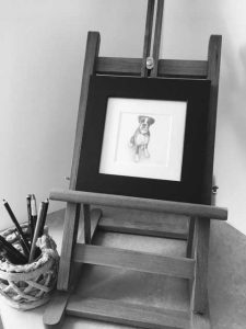 pet portraits by Julie Rhodes in pencil